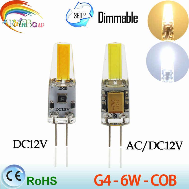 Mini G4 lampe à LED COB LED ampoule 3 W 6 W DC AC 12 V LED G4 COB lumière Dimmable 360 faisceau Angle lustre lumière remplacer halogène G4 lampes