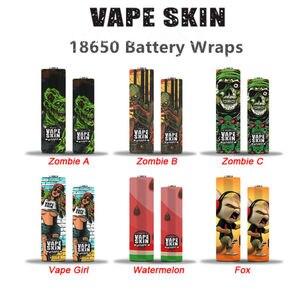 5 шт. Vape 18650 защита от кожи обертка наклейки протектор зомби лиса гриль шаблон ремонт электронная сигарета 18650 батарея