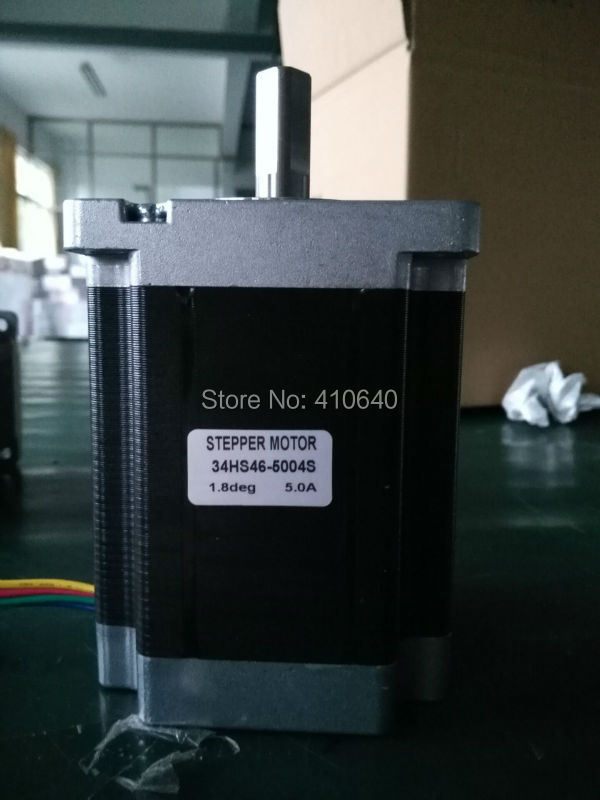 5 pcs per lot Nema 34 Stepper motor 34HS46-5004S L116 mm  with 1.8 deg stepper angle current 5 A  torque 8.5 N.cm and 4 wires боди эротик rene rofe боди