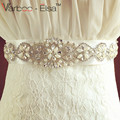 Crystal Bridal Belts for Wedding Dresses 2016 Cintura Sposa Rhinestone Wedding Belts And Sashes for Wedding Accessories