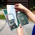 Couro Capa de Passaporte Cobertura De Licença de Motorista Dos Homens Titular do Cartão de Crédito da Carteira de Viagem Para Passaporte de Moda Cobre Tarjetero Mujer