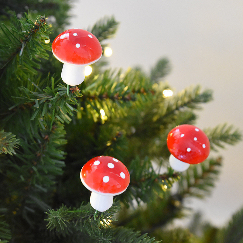 Us 3 98 6pcs Bag Merry Christmas Red White Mushroom Christmas Party Holiday Diy Decorations Xmas Decoration Multifunction Diy Gifts In Party Diy