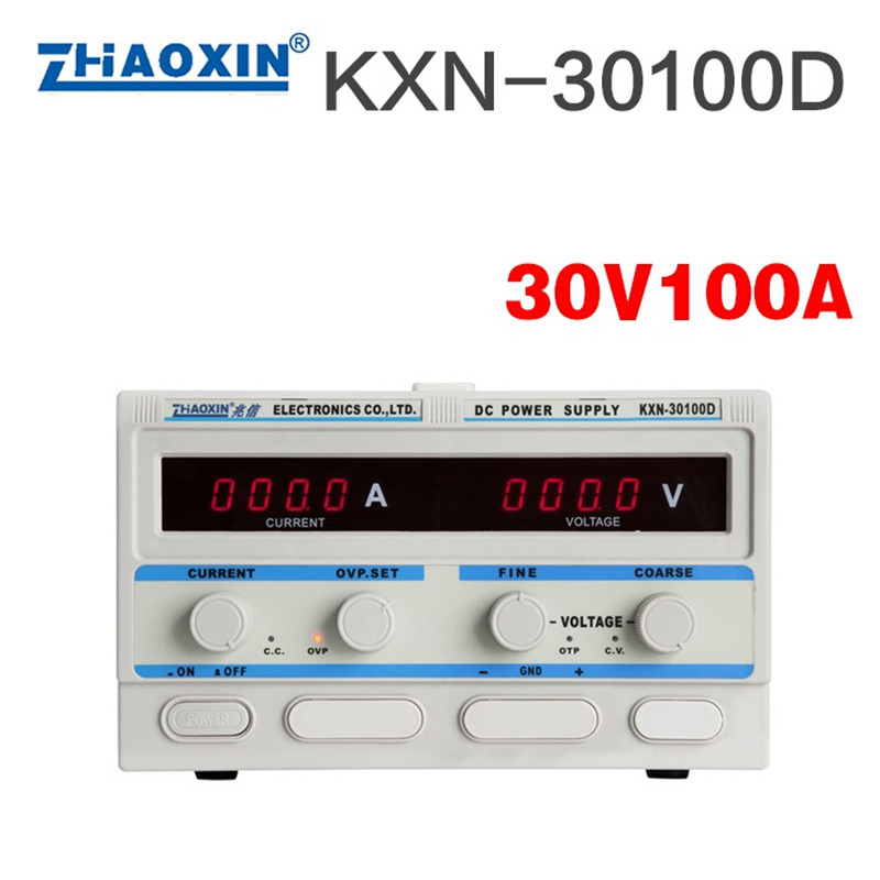 KXN-30100D High-Power Switch DC Adjustable Power Supply 30V 100A Laboratory power supply Toroidal transformer kps6010d 60v 10a high power supply 600w 30v 20a laboratory power supply adjustable 0 1a switch dc power supply