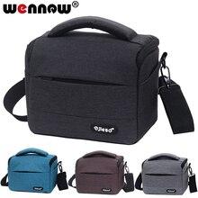 Wennew su geçirmez DSLR kamera çantası Nikon Canon SONY için Panasonic Olympus FUJIFILM fotoğraf fotoğraf kılıfı Lens sırt çantası