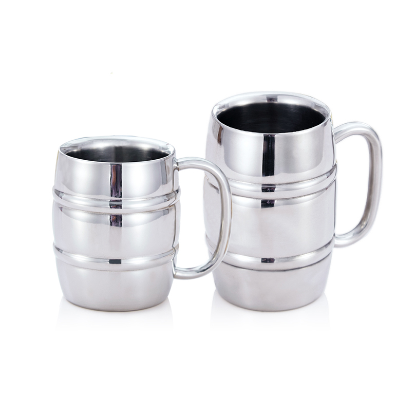 Stainless Steel Beer Mugs Milk And Coffee Thickened Double Wall Tea Cups Big Travel Mug Camping With Handle 350ml550ml