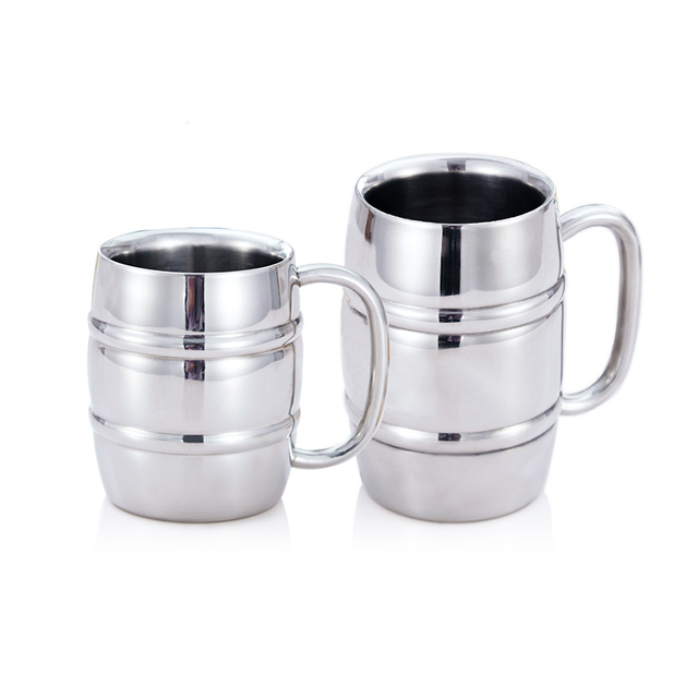 Stainless Steel Beer Mugs Milk And Coffee Thickened Double Wall Tea Cups Travel Mug