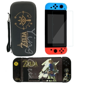Image 3 - NEW for Nintend Switch NS NX Console Carrying Storage Bag + Shell Cover Case + Tempered Glass Screen Protector + 2 Grip Caps