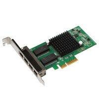 DIEWU I350-T4 PCI-E x4 Servidor Porta 4 RJ45 i350t4 1000 Mbps Placa de Rede Adaptador de Rede Gigabit Ethernet NIC