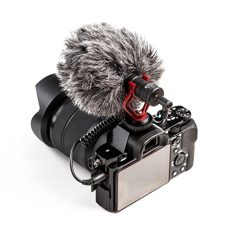 BOYA BY-MM1 micro micro vidéo Compact sur appareil photo pour Canon Nikon Sony A7 GH4 appareil photo reflex numérique iPhone Samsung HuaWei Smartphone - 5