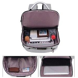 Image 4 - Shellnail حقيبة كمبيوتر محمول مقاومة للماء حقيبة السفر متعددة الوظائف مكافحة سرقة حقيبة للرجال الكمبيوتر على ظهره USB شحن لماك بوك باد