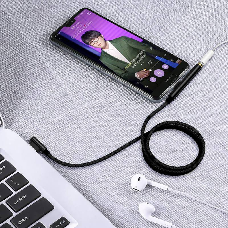 3.5 Jack Earphone Audio Cable Adapter USB Male to Type C 3.5mm Female Adapters For Xiaomi Samsung Phone Audio Converter
