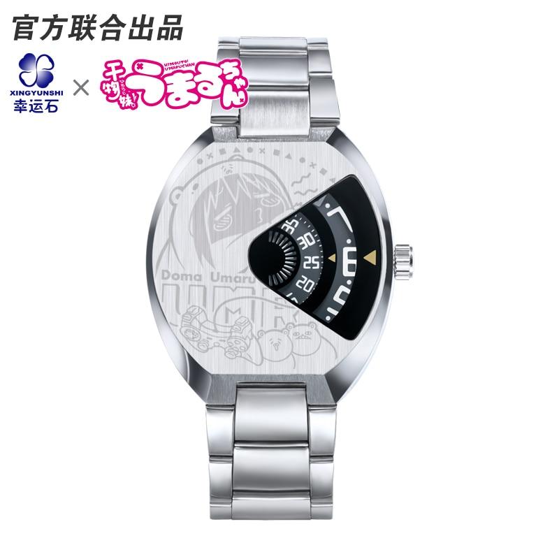 Himouto umaru chan anime waterproof metal watch comics cartoon anime pu short yellow purse button wallet printed with doma umaru of himouto umaru chan