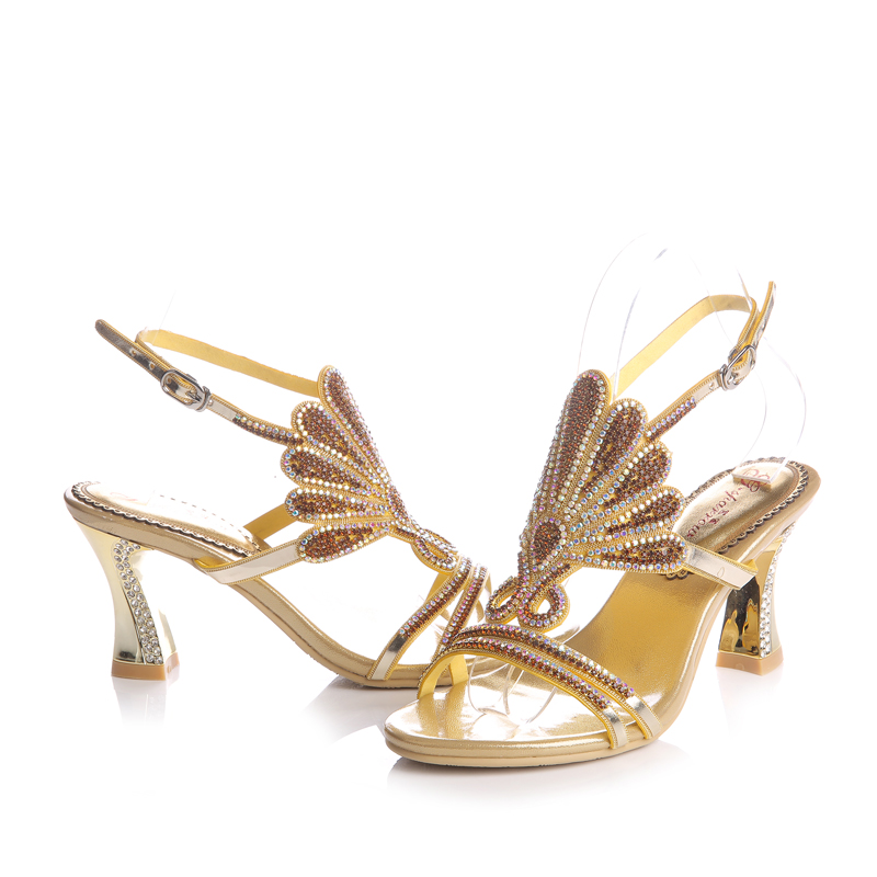 scarpe Party Handmade Color Sandalo Party scarpe Inches Heels Birthday 3 oro Open   29ab0a