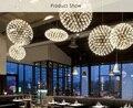 Aço inoxidável moderno loft café bar restaurante lustre lâmpada do teto do corredor droplight bola de iluminação led decoração da lâmpada pendurada