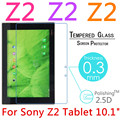 """10 unids 9 H A Prueba de Explosiones Templado Vidrio Templado Para El Sony Xperia Z2 Tablet 10.1 """"Tablet PC Película Clear Protector de pantalla Cubierta"""