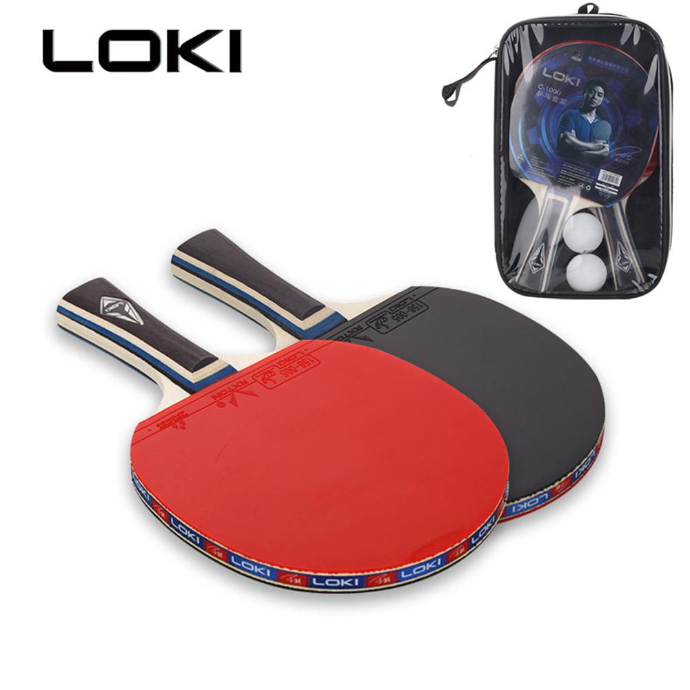 2pcs Table Tennis Rackets Set Training Ping Pong Paddle Bat Good Hand Feeling For Children Student & Student Entertainment
