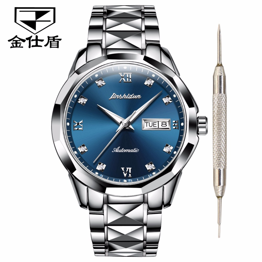 JSDUN Couple watches for lovers men women Luxury brand Waterproof Tungsten stainless steel Men's watch relogio bayan kol saati