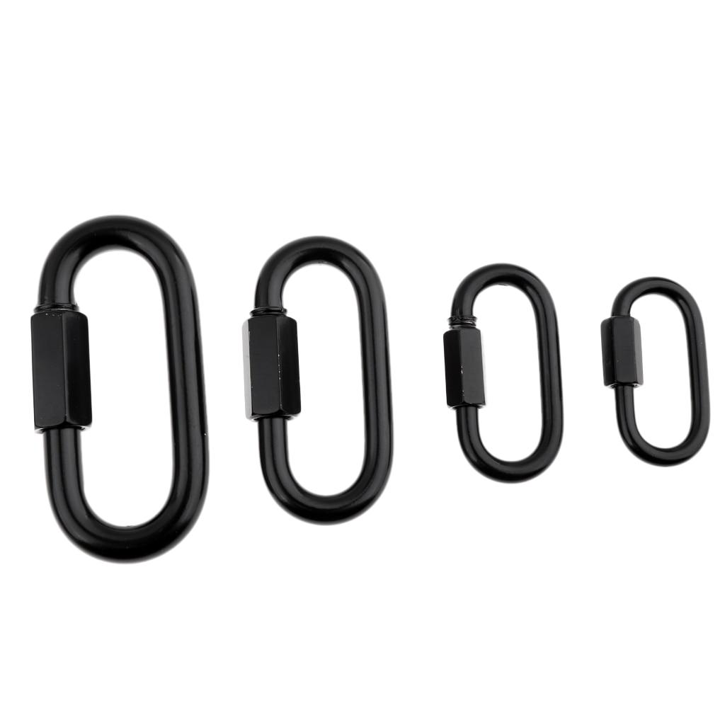 Quick Repair Link Chain Extend Screw Lock Fastener Carabine Rope Hook Round