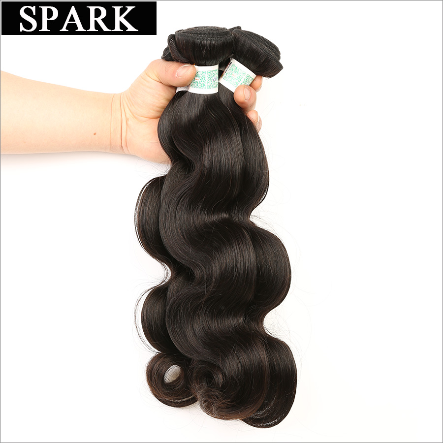 Spark font b Hair b font Company Brazilian Virgin font b Hair b font Body Wave