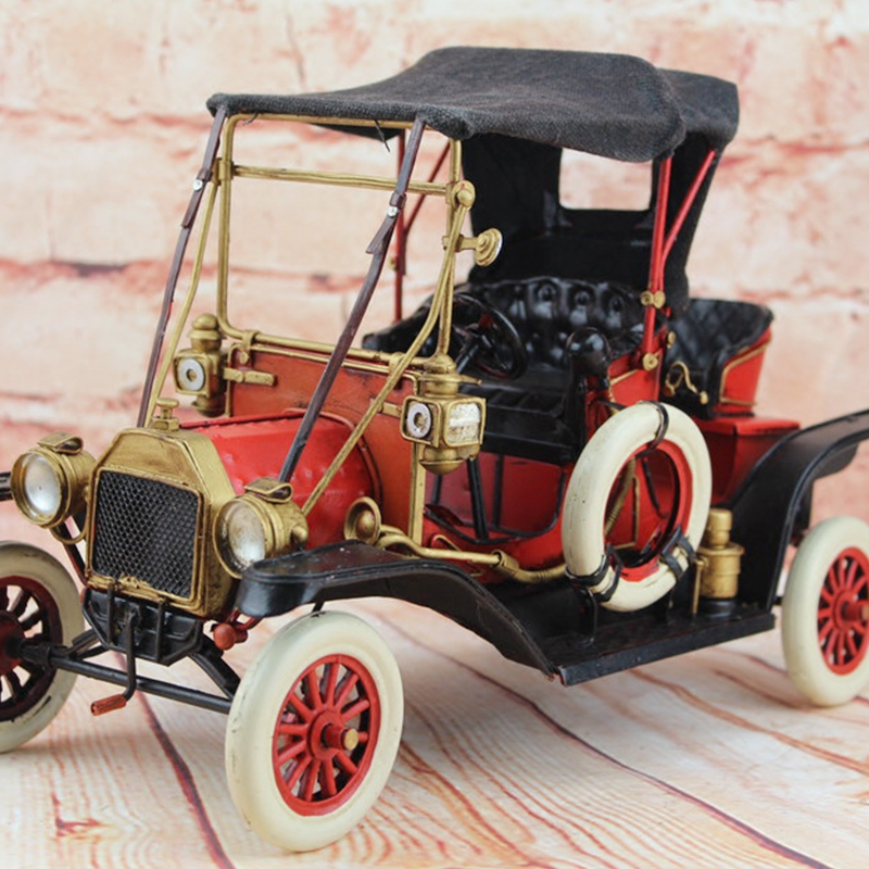 1911 Retro Ford Classic Car Model 100% Handmade Old Iron Sheet Model Rolls Royce 1:12 Retro Metal Dectoration Pub CAFE купить