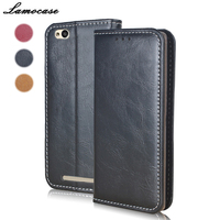 Lamocase Luxury Genuine Leather For XiaoMi RedMi 3 3 Pro 3s Case Flip Book For XiaoMi