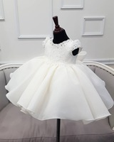 Infant Baby Girl Dress Beading Layered Tulle Baptism Dresses for Girls 1st Year Birthday Princess Wedding Baby Christening Gown