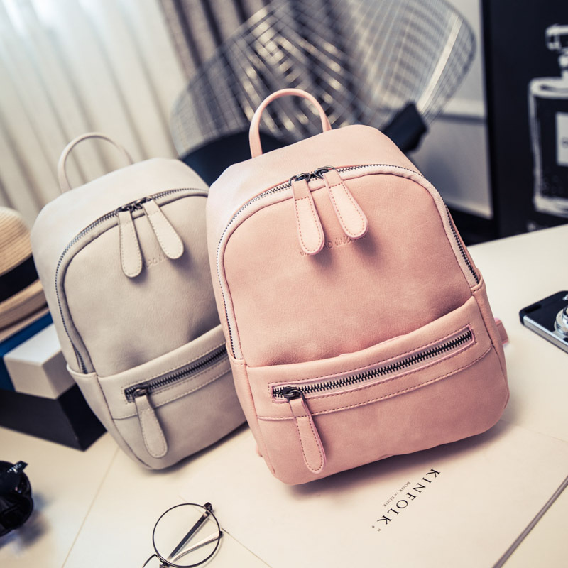 Women New Backpack Female Fashion feminine Bag Casual PU Leather for teenage girls school Solid Mini Small Ladies Backpak