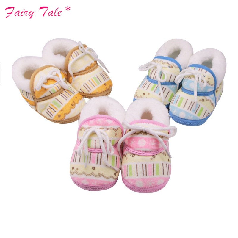 Baby Winter Boots Newborn Irregular Graffiti Printed Cotton Cloth With Short Tube Warm Boots Baby Girl Shoes Lights & Lighting