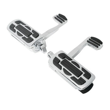 Motorcycle 10mm Rider Rear Footrest Footpegs pedals For Harley Dyna Sportster xl883 1200 Touging Road King Electra Stret Glide