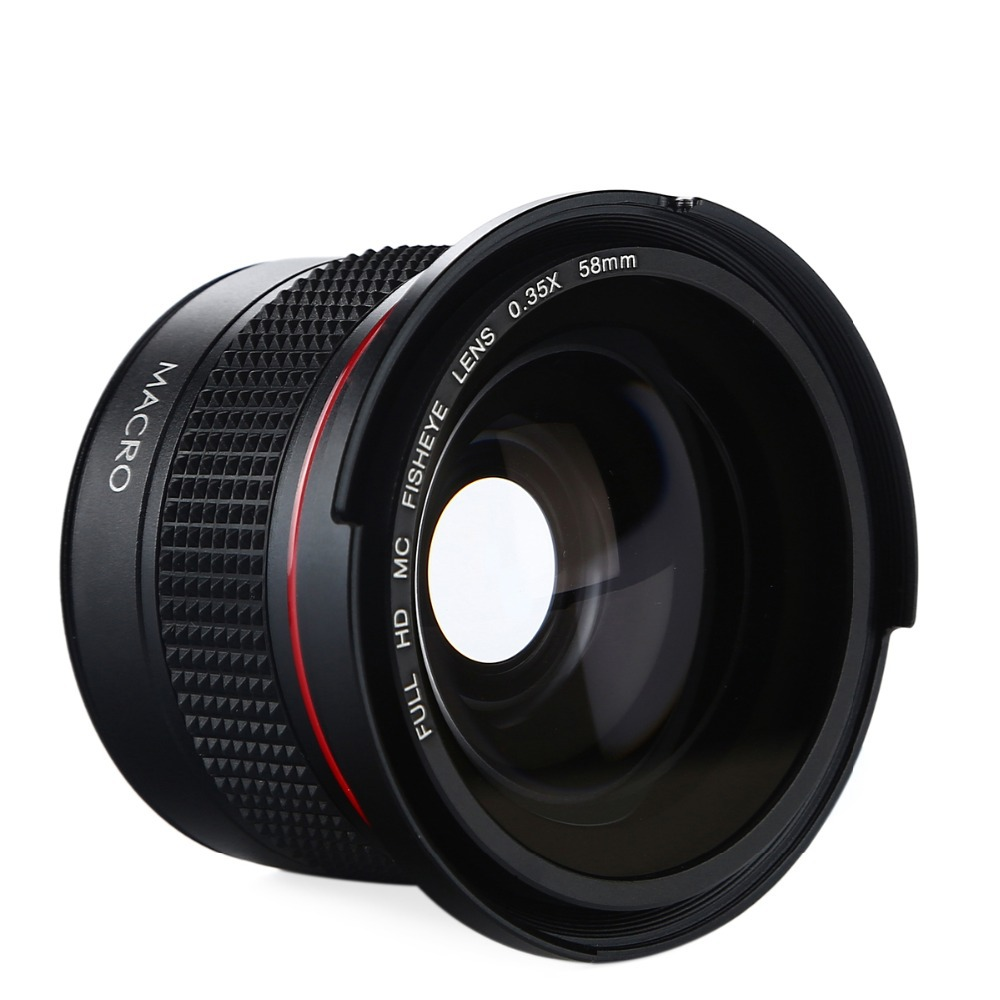 K & F KONZEPT HD 0,35x58mm/52mm Fisheye Makro Weitwinkel objektiv ...