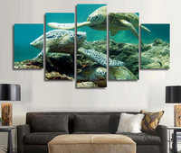 Framed Printed Underwater Sea Turtle Painting Children S Room Decor Print Poster Picture Canvas Free Shipping