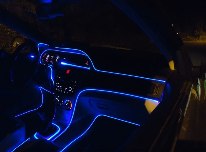 Meter pannello auto styling car interior luce ambiente