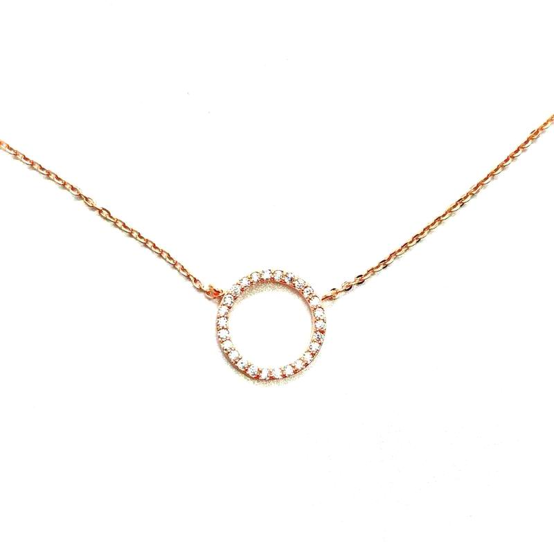 small rose woman simple circle for with pendants wholesale gold long bar crystal necklace minimalist dainty product new necklaces pendant