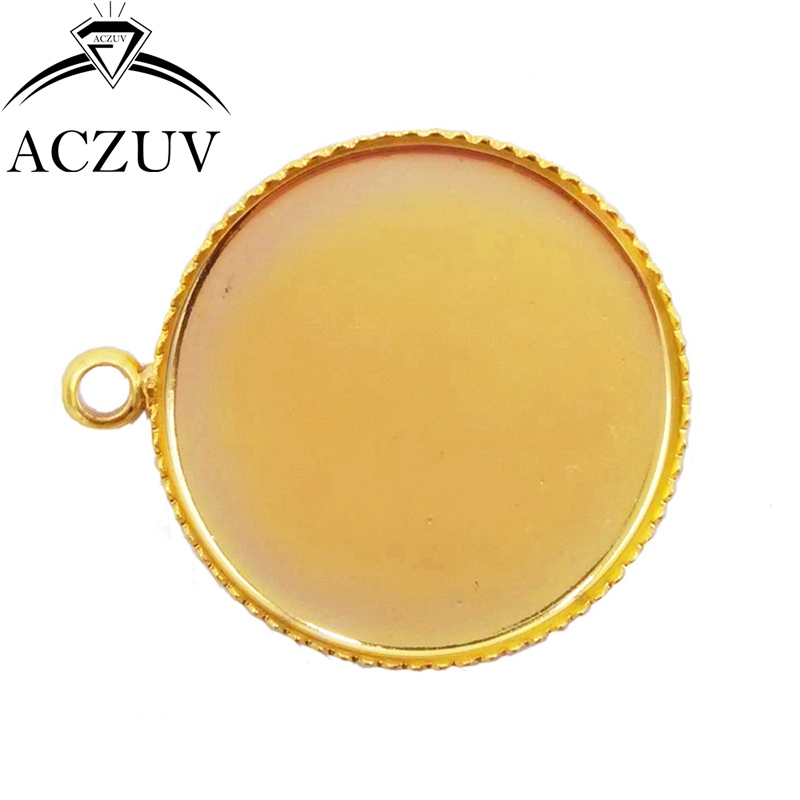 Gold Plated 500pcs 12mm 14mm 16mm 18mm 20mm 25mm 30mm Teeth Charm Blank Jewelry Bezel Pendant