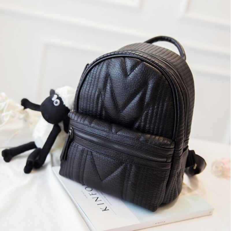 цены на Z17 College Style Women PU Leather Vintage Backpack Fashion Leisure Travel Bag School Backpack Pouch Mochila Women Backpack