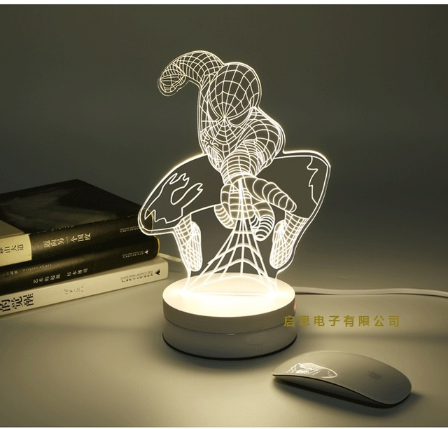 Newest Acrylic indoor 3D table lamp kids room children room  creative bedroom lamp Romantic lampadas led night lamp