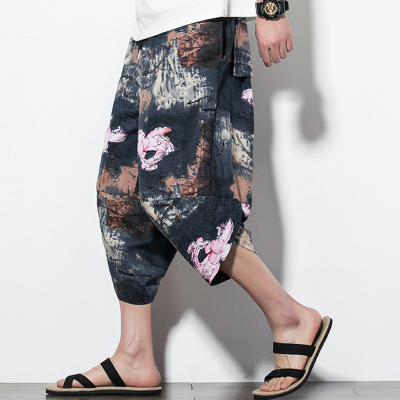 Estate Di Sesso Maschile Harem Dei Pantaloni Degli Uomini Dei Pantaloni Del Fiore Di Spiaggia Di Sabbia Pantaloni Hallen Pantaloni Pantaloni Streetwear Pantaloni Della Tuta Hip Hop Abbigliamento Tecniche Moderne