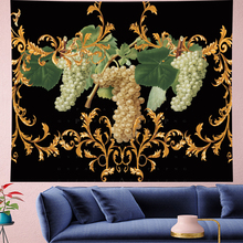 European retro pattern grapes wall hanging Oil painting texture Tapestries Psychedelic Wall carpet Hanging Home Decor GN.PAPAYA
