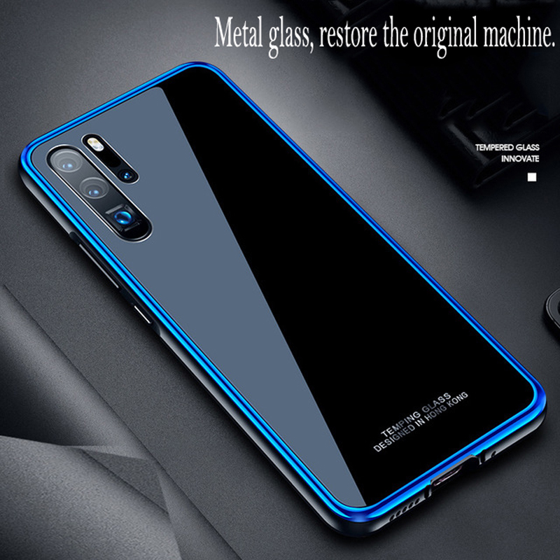Business men Huawei P30 Pro tempered glass mobile phone shell fashion luxury metal frame shatter-resistant case