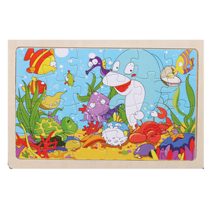 Image 5 - أحجية أطفال خشبية عالية الجودة مقاس 22.5*15 سم كبيرة الحجم تحتوي على 24 كرتونية للأطفال ألعاب تعليمية خشبية للأطفال البنات والأولاد