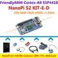 S2 + HD700 NanoPi S5P4418 Quad Core Cortex-A9 + Camera + 8 GB Card + GPS + Alimentação + TTL = NanoPi S2 KIT-E-D (Roda u-boot, Android5.1, Debian8)
