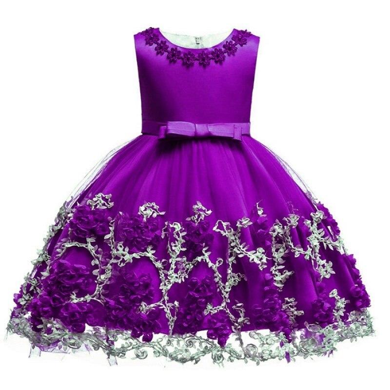 Cumpleaños princesa vestido de fiesta para niñas flor dama elegante ...