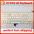 NEW A1342 UK keyboard clavier for Macbook Pro 13'' Unibody MC207 MC516 A1342 Keyboard UK with Power Button without Topcase