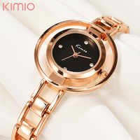 KIMIO Bracelet Watch Women Hardlex Wrist Watch For Women Rose Gold Ladies Watches Elegant Montre Femme