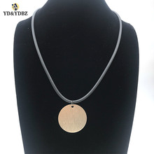 YD&YDBZ 2019 Fashion Round Pendant Necklaces Women Jewelry Neck Collar Rubber Necklace Flexible Leather Chains Girl Gift Gothic