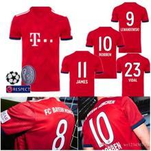 4e712a07dea 2018 2019 Bayernes Muniches jersey 18 19 Home football camisetas Thai AAA  shirt survetement football Soccer