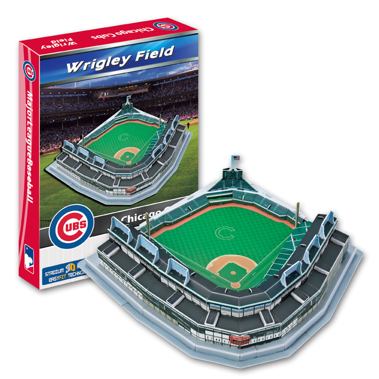 Candice guo 3D puzzle DIY toy paper building assemble hand work game model Baseball wrigley field chicago cubs stadium gift 1pc