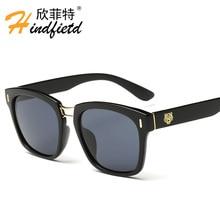 Tigre estilo cuadrado gafas de sol de las mujeres diseñador de la marca mujer Moda Clásico Espejo de vidrio de Sol de Marca gafas De Sol Oculos Feminino