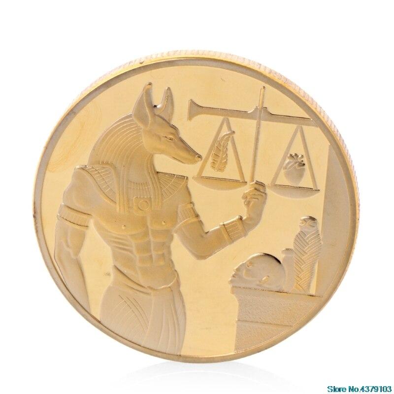 Commemorative Coin Souvenir Silver Plated Libra Egypt Pyramid Commemorative Challenge Coin Souvenir