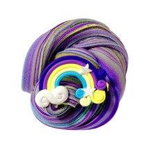 Горячая Распродажа, красивые цветные масляные слизи, Радужный торт на день рождения, слизи, детские игрушки для снятия стресса, забавные подарки, слизи, decoracion# CA30